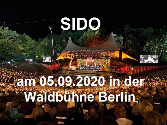 SIDO – Waldbühne Berlin am 05.09.2020 - Berliner Waldbühne - 06.09.2020 - Konzert - Alecsa Hotel Berlin